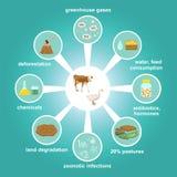 Infographic van de industriële fabriek landbouw vector illustratie