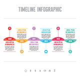 Infographic Vector Concept in Flat Design Style - Timeline Template Royalty Free Stock Photos