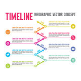 Infographic Vector Concept in Flat Design Style - Timeline Template Royalty Free Stock Photography