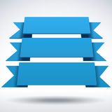 Infographic vector 3D blue ribbons. Infographic vector 3D styled blue ribbons for your presentation Stock Images