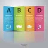 Infographic-vector de papel colorido Fotografía de archivo