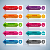 Infographic vector design template Stock Photography
