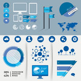 Infographic Vector Elements. A collection of vector infographic design elements Stock Photo