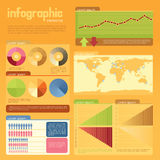 Infographic. Vector infographic elements, organized in layers Royalty Free Stock Photo