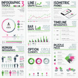Infographic vector elements template Royalty Free Stock Photos