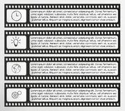 Infographic vector filmstrip Stock Photography
