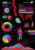 Infographic Vector Graphs and Elements Stock Image