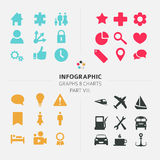 Infographic Vector icon collection Stock Image