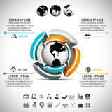 Infographic. Vector illustration of business infographic made of globe and design element Stock Images