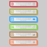 Infographic vector illustration. can be used for workflow layout, diagram, number optionsinfographic vector illustration. Modern Design template / can be used Royalty Free Stock Photography