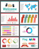 Infographic vector illustration presentation Stock Images