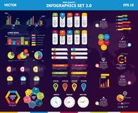 Free Infographic Vector Mega Set. Rich Collection Of Elements For Marketing Presentation, Business Reports, Data Visualisation, Quality Stock Photos - 138756803