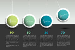 Infographic vector option banner with pendulum. Color spheres, balls, bubbles. Infographic template Royalty Free Stock Photography