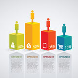 Infographic. Vector people infographic design template Stock Image