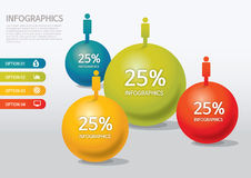 Infographic. Vector people infographic design template Stock Images