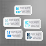 Infographic vector. 5 steps  boxes. 5 steps infographics.  vector boxes Stock Photos