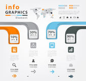Infographic vector template design Stock Photography
