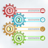 Infographic vector template gear Royalty Free Stock Images