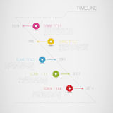Infographic vector timeline template with circle i. Cons illustration white Stock Photo