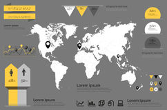 Infographic vector. World Map and Information Graphics Stock Photo