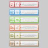 Infographic vectorillustratie kan voor werkschemalay-out, diagram, aantal optionsinfographic vectorillustratie worden gebruikt Stock Foto