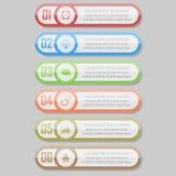 Infographic vectorillustratie kan voor werkschemalay-out, diagram, aantal optionsinfographic vectorillustratie worden gebruikt Stock Fotografie