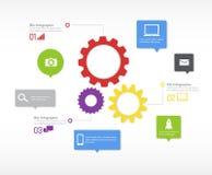 Infographic-Vektor Stockfotografie