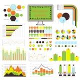 Infographic vektor. apelsin-gräsplan 04 Royaltyfri Bild