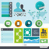 Infographic-Vektor-Elemente Stockfotografie