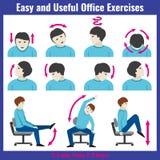 Infographic vektor för begrepp för kontorssyndromhälsovård royaltyfri illustrationer