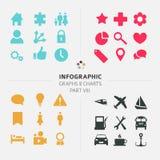 Infographic-Vektor-Ikonensammlung Stockbild