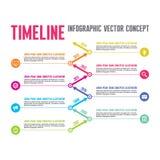 Infographic-Vektor-Konzept in der flachen Design-Art - Zeitachse-Schablone Lizenzfreie Stockfotografie