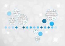 Infographic vektor med fragment Fotografering för Bildbyråer