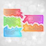 Infographic-Vektor mit Fragmenten Lizenzfreie Stockbilder