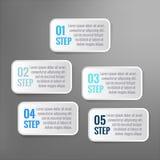 Infographic vektor 5 momentaskar Arkivfoton
