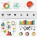 Infographic vektorbeståndsdelar Royaltyfria Bilder