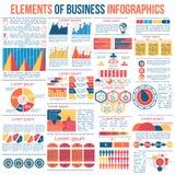 Infographic vektorbeståndsdelar för affärsillustration vektor illustrationer
