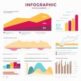 Infographic vektorbeståndsdelar för samling Royaltyfri Bild