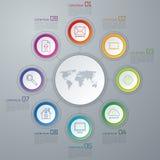 Infographic vektorcirkel Arkivfoto