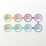Infographic vektorcirkel Arkivbild