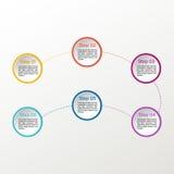 Infographic vektorcirkel Affären diagrams, presentationer och diagram Bakgrund Royaltyfri Fotografi