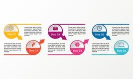 Infographic vektorcirkel Affären diagrams, presentationer och diagram Bakgrund Royaltyfri Bild