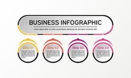Infographic vektorcirkel Affären diagrams, presentationer och diagram Bakgrund Fotografering för Bildbyråer