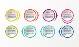 Infographic vektorcirkel Affären diagrams, presentationer och diagram Bakgrund Arkivbild