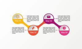 Infographic vektorcirkel Affären diagrams, presentationer och diagram Bakgrund Arkivbilder