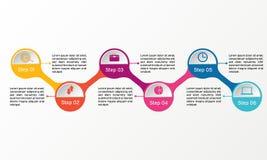 Infographic vektorcirkel Affären diagrams, presentationer och diagram Bakgrund Royaltyfria Foton