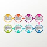 Infographic vektorcirkel Affären diagrams, presentationer och diagram Bakgrund Royaltyfri Foto