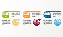 Infographic vektorcirkel Affären diagrams, presentationer och diagram Bakgrund Royaltyfria Bilder