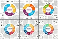 Infographic vektorcirkel Mall för cirkulering stock illustrationer