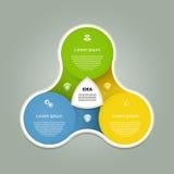 Infographic vektorcirkel Mall för diagram, graf, presentation och diagram Affärsidé med tre alternativ, delar, moment royaltyfri illustrationer